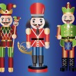 Stock Vector: Christmas Nutcrackers