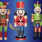 Christmas Nutcrackers — Stock Vector