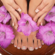 Stock Photo: Pedicure and Manicure Spa