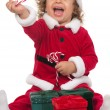 Stock Photo: Little SantClaus