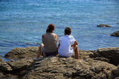 Watching the sea — Stock Photo