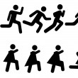 Stock Vector: Running - vector pictograms