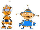 Robotic Assistants — Stock Vector