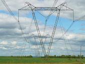 高圧送電線 — ストック写真