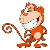 Monkey winks — Stock Vector