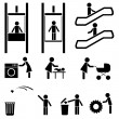 Black icons set - Stock Vector