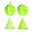 Stock Photo: Christmas tree and balls design