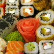 Traditional Japanese Sushi close-up — Stock Photo