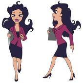 Cartoon business woman — Stock Vector