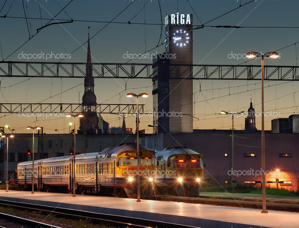 The Riga central railway station. Riga, Latvia.  Stock Photo #6891261