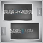 набор творческих визиток — Cтоковый вектор