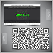 Vector set of creative business cards — Stock Vector