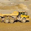 Yellow mining dump truck — Stock Photo