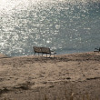 Stock Photo: Empty benches