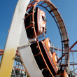 Rollercoaster at funfair — Stock Photo