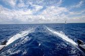 Sailing on a catemaran — Stock Photo