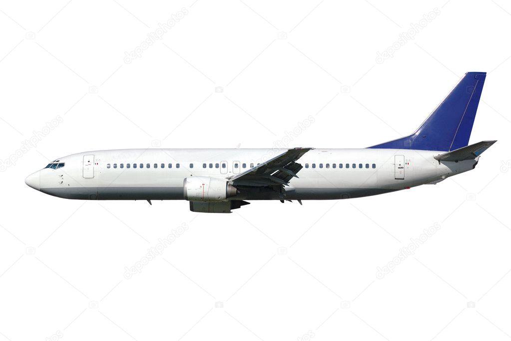 Jet engine isolated on white background  Stock Photo