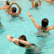 Stock Photo: Aerobic in pool