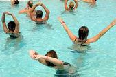 Aerobic in pool — Stock Photo
