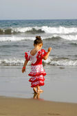 Dítě na pláži — Stock fotografie