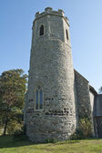 Ancient English Church Tower — Stock Photo