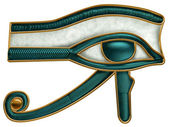 Egyptian Eye of Horus — 图库照片