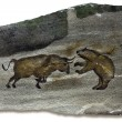 Bull and Bear Markets Cave Painting - ストック写真