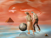 Lost pyramid — Stock Photo