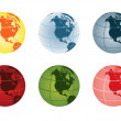 Globe - north america — Vector de stock #7174183