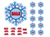 Winter sale snowflakes — Stock Vector