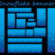 Snowflake banners — Stock Vector