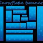 Snowflake banners — Stock Vector