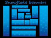 Snöflinga banners — Stockvektor