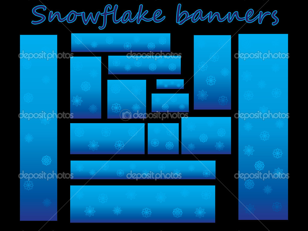Set of banners with snowflakes — Stock Vector #7858953