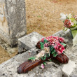 Old graves at cemetery — Stock Photo