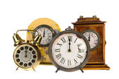 Vintage clocks at twelve — Stock Photo