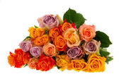 Bouquet roses in various colors — Stock Photo