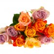 Bouquet roses in various colors — Stock Photo #7101582