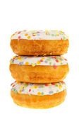 Sugary donuts with colorful glaze — Stock Photo
