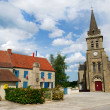 French village in the auvergne — Stock Photo