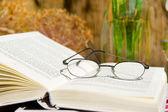 Reading a book outdoor — Stock Photo