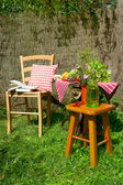 Quiet place in the garden — Stock Photo