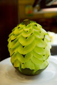 Artful carved melon — Stock Photo