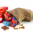 Bag full of Sinterklaas presents — Stock Photo