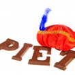 Stock Photo: Chocolate Sinterklaas letters