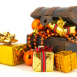 Treasury box for Christmas — Stock Photo