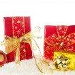 Red and golden Christmas — Stock Photo