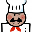 Stock Photo: Winking Black Chef
