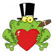 Frog With A Hat And Cigar — Stock Photo #7276473
