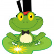 Frog Groom On A Lilypad — Stock Photo
